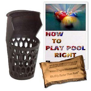 """6 Replacement Billiard Pockets with BCA Booklet & Talc Bag by ZieglerWorld. $23.99. Set of 6 Replacement Billiard Pool Table Pockets  ?6-7/8"""" shallow depth pocket  ?Molded durable black plastic ?Fits 5"""" diameter opening ?These Replacement Billiard Pool Table Pockets Fit Almost Any 6', 7', 8' or 9' Pool Table! DEAL INCLUDES Billiard Congress of America's """"HOW TO PLAY POOL RIGHT"""" BILLIARD Booklet. This booklet covers the basics- Cue Grip, Stance, Stroke and English..."""