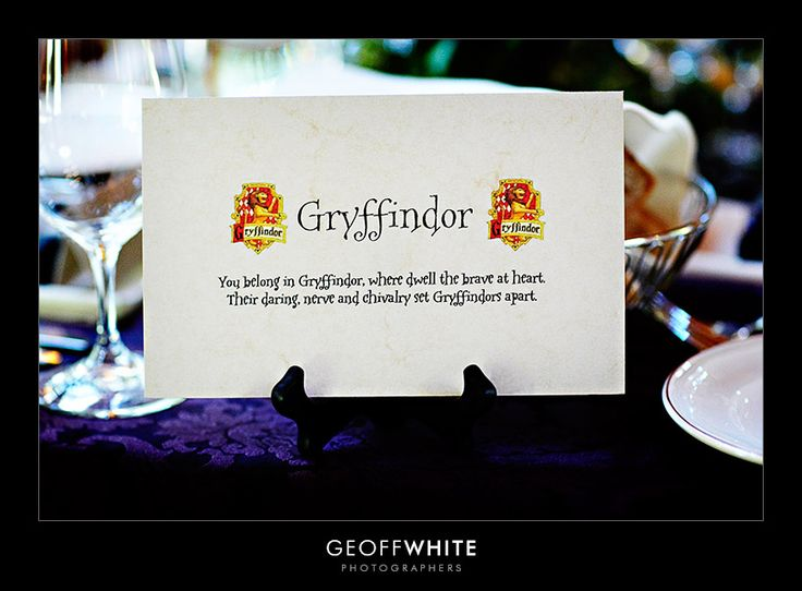 Harry Potter: Hp Wedding, Place Card, Wedding Ideas, Harrypotter, Harry Potter Wedding, Themed Weddings, House, Potter Themed