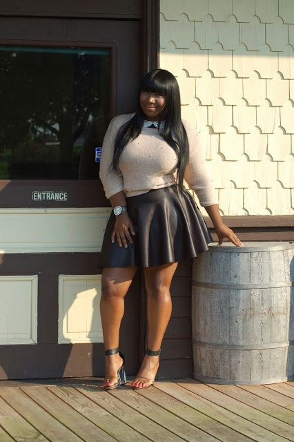 Crop Top Leather Skirt Thick Quot If You Like My Curvy Girl