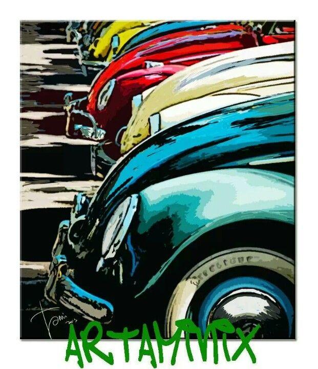 Maggiolino #colors #colore_italiano #italy #Volkswagen #motors #auto #paint #art #artaminix #handmade