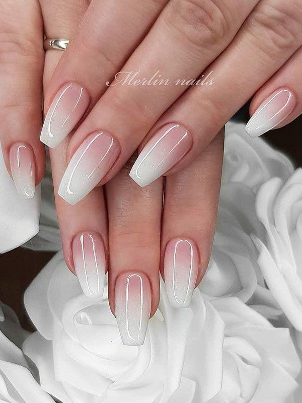 56 Trendy Ombre Nail Art Designs Natural Gel Nails Bride Nails Fall Wedding Nails