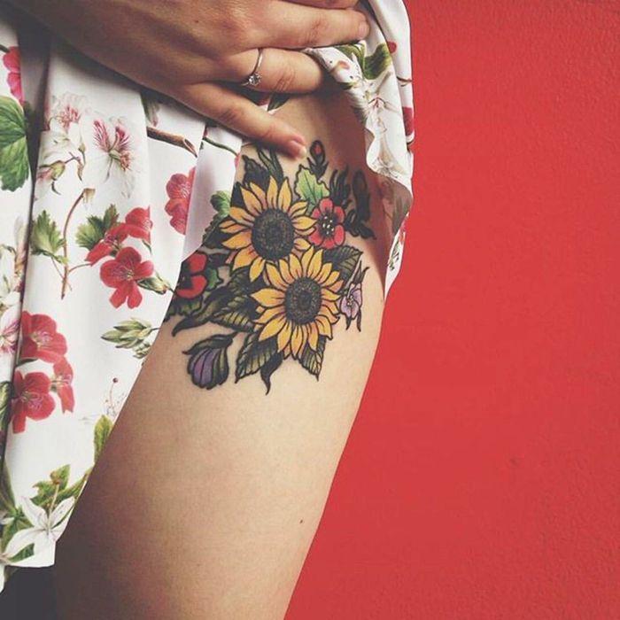 1001 Ideas De Tatuajes De Flores En Diferentes Estilos Tatuajes De Flores Tapar Tatuajes Tatuajes Girasoles