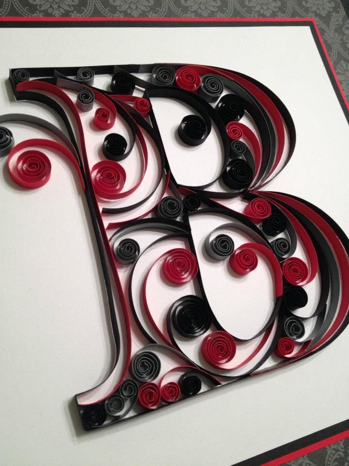 Quilling..this is the most beautiful B I have ever seen.