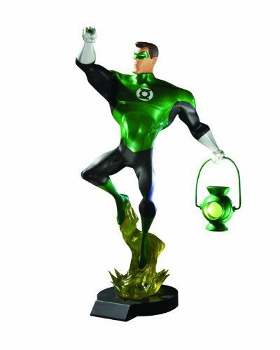 """DC Direct Green Lantern: The Animated Series: Hal Jordan Maquette by DC Direct. $114.95. Hand-painted, cold-cast porcelain; Measures approximately 12.3"""" x 6.4"""" x 5.5""""; Sculpted by Paul Harding; Packaged in a 4-color box; Based on the DC Comics hero's animated incarnation from the Cartoon Network series. From the Manufacturer                Coming soon to Cartoon Network. The power ring shines its emerald light across a darkened universe, a symbol of law and order w..."""