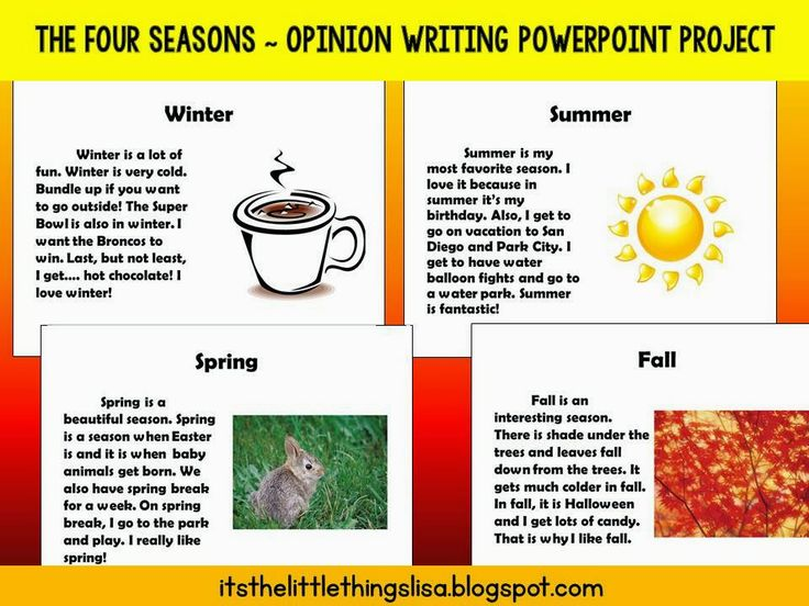 Writing the Four Seasons