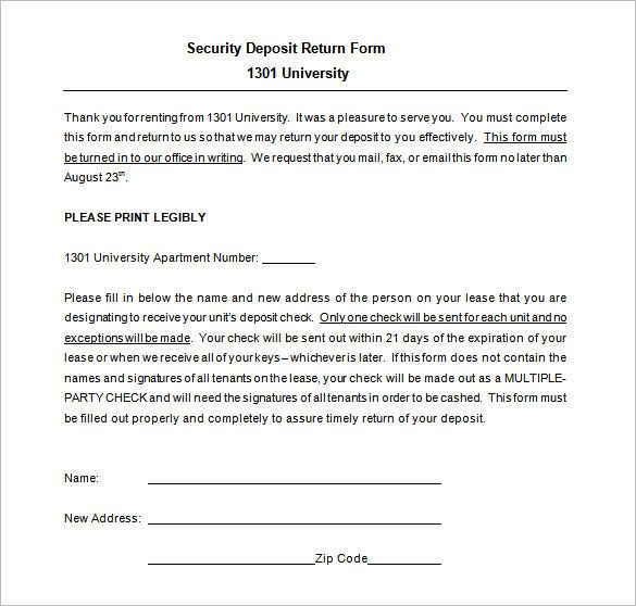 Form Template For Turning In Receipts
