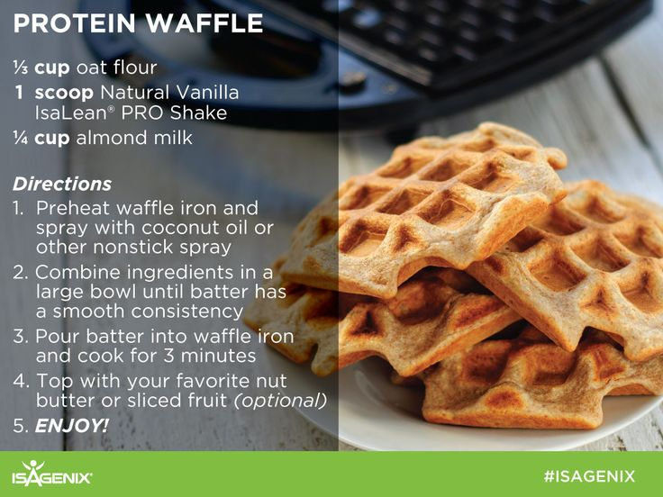 Protein Waffles are a great option for a healthy breakfast! Enjoy