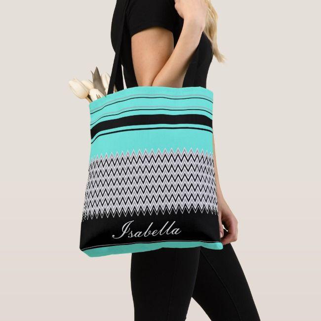 Create Your Own Tote Zazzle Com Chevron Tote Bag Mint Stripes Vintage Fashion Photography