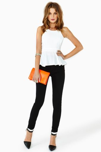 Gianna Peplum Top by Nasty Gal