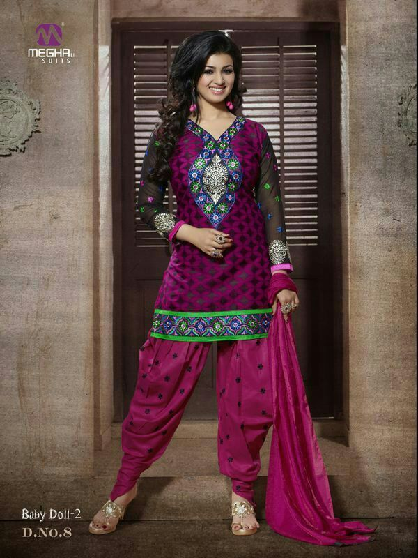 #cotton patiala Unstitched salwar #kameez  Dashing Pink Patiala salwar kameez set with waistcoat. pair with matching dupatta.Salwar Include Dupatta fabric, Unless Specified.  Available in 52% Discount @aimdeals