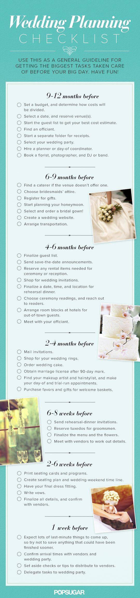 A Super Helpful 12 Month Wedding Planning