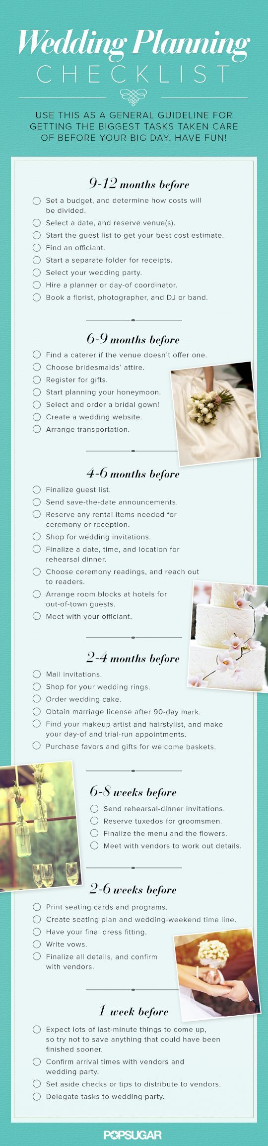 A Super Helpful 12 Month Wedding Planning Checklist to help you get organized: http://www.modwedding.com/2014/10/06/top-5-wedding-planning-checklists-keep-track/ #wedding #weddings #wedding_planning_checklist
