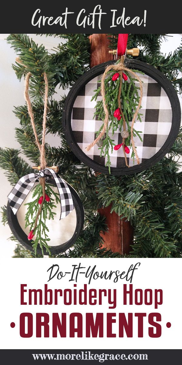 Diy Embroidery Hoop Christmas Ornaments More Like Grace Christmas Ornament Crafts Diy Christmas Ornaments Christmas Diy
