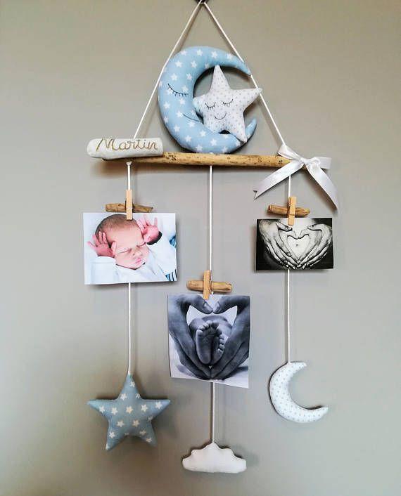 Porte images pêle-mêle images cellular bois flotté décoration chambre enfant bébé cadeau de naissance