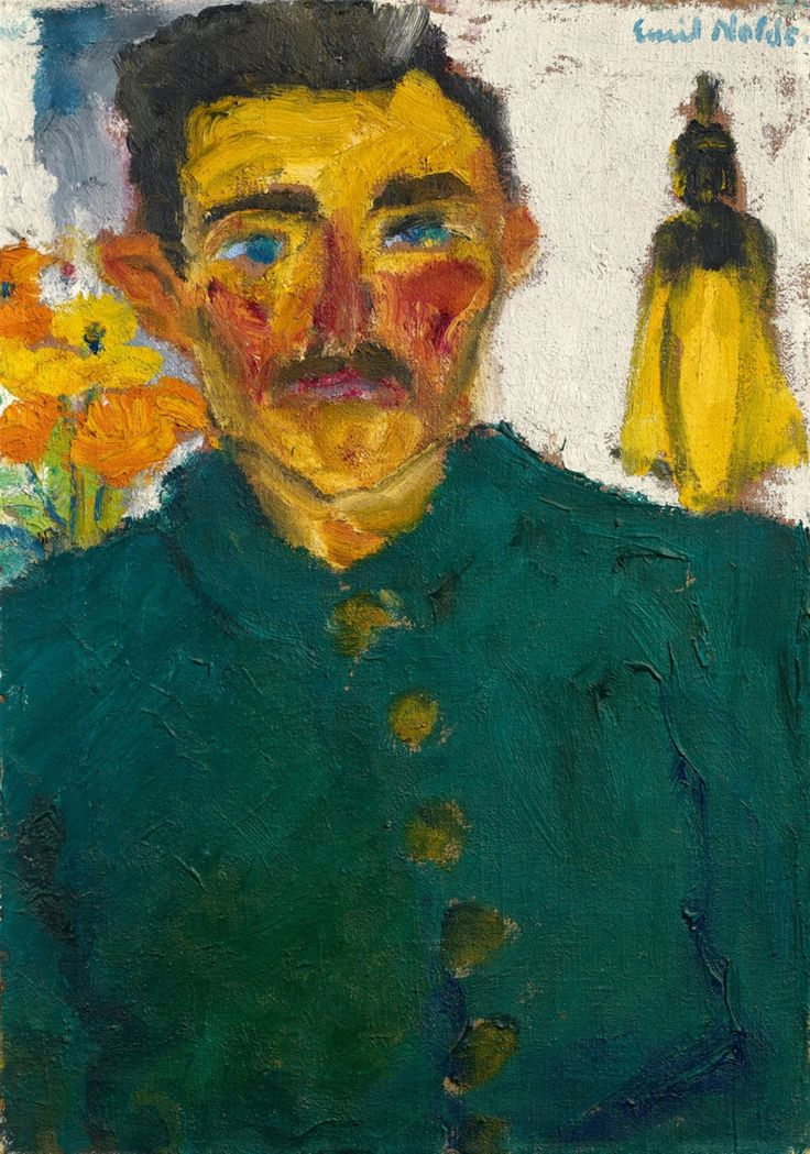 "thunderstruck9: ""Emil Nolde (German, 1867-1956), Der Jäger [The Hunter], 1918. Oil on canvas, 68.5 x 48.5 cm. """