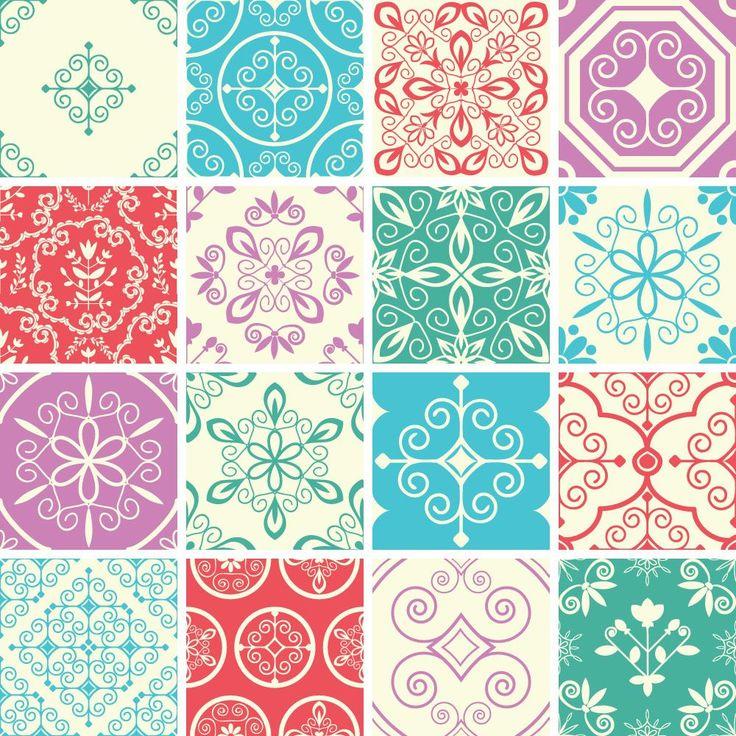 Adesivo de azulejo hidráulico 6003 décoration de la cuisineréfrigérateurs autocollantspapiers