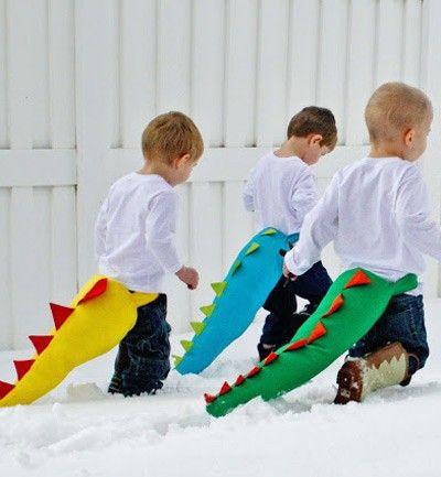 Disfraces para Carnaval: ¡nos encantan estas colas de dinosaurio!