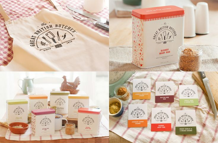 The Great British Butcher by Design by Day #identity #packaging