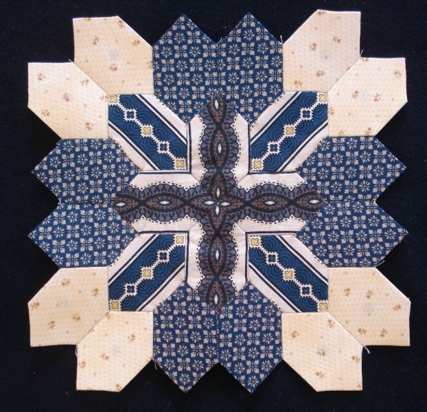 Lucy Boston block 24 by Muriel made for the POTC Blog Along at Little Quilts