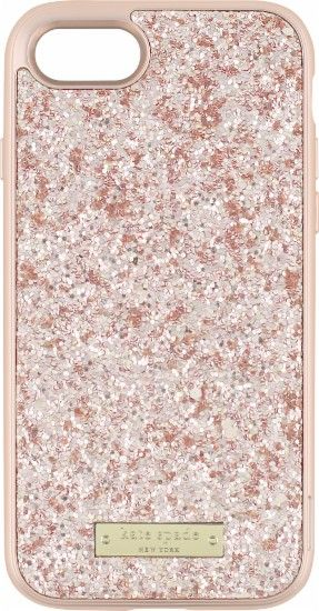 kate spade new york - Glitter Case with Bumper for Apple® iPhone® 7 - Rose gold/Exposed glitter