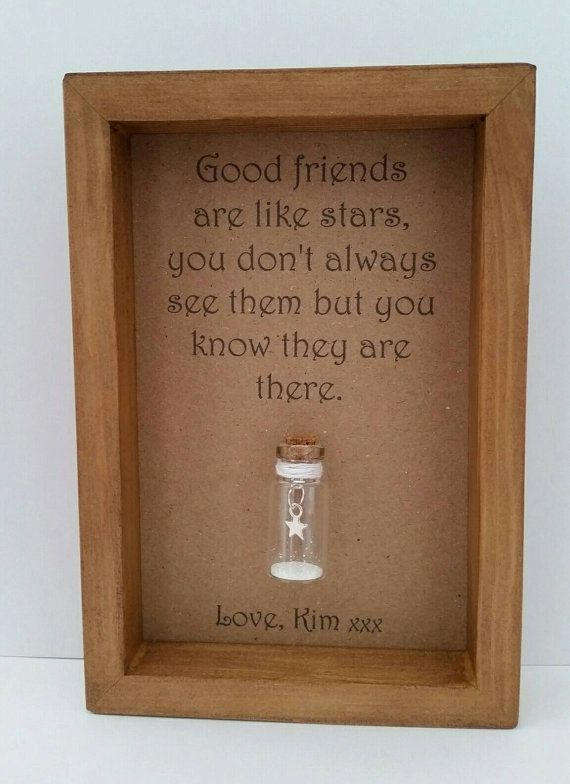 96c793228 A beautiful & heart felt friendship gift. A tiny silver metal star charm  hanging inside a miniature glass bottle with a sprinkling of the finest, ...