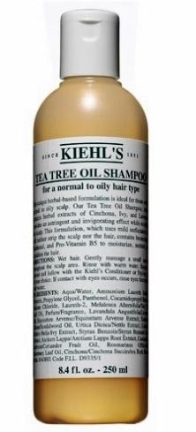 Tea Tree Oil Shampoo, Kiehl's. Contém umectantes, pantenol e pró-vitamina B4. Essa fórmula, a base de ervas, é ideal para quem possui couro cabeludo normal a oleoso, pois proporciona um efeito adstringente e tonificante, enquanto acalma. Preço sugerido: R$ 68,00