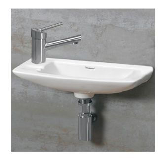 """View the Whitehaus WH1-103L Isabella 17-1/2"""" Wall Mounted Bathroom Sink with 1 Hole Drilled at Build.com."""