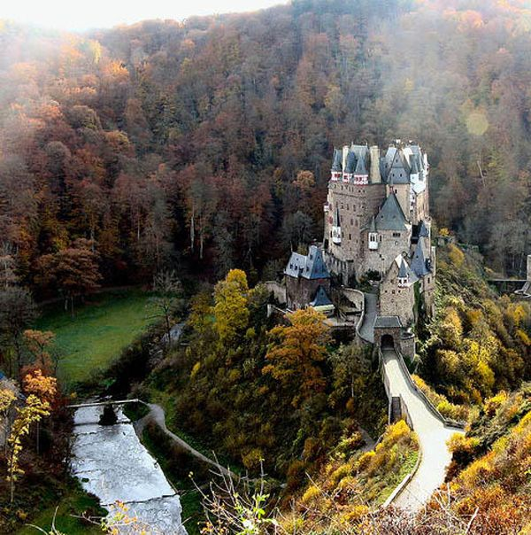 Burg Eltz Castle, Rheinland, Germany - In the West of Germany, between