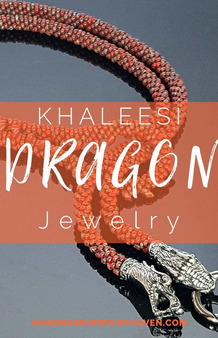 Beautiful Kumihimo Dragon Wrap Jewelry. #dragonjewelry #gameofthronesjewelry  #khaleesijewelry