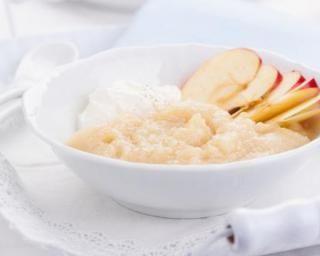 Compote de pommes sans sucre pour goûter spécial chrononutrition