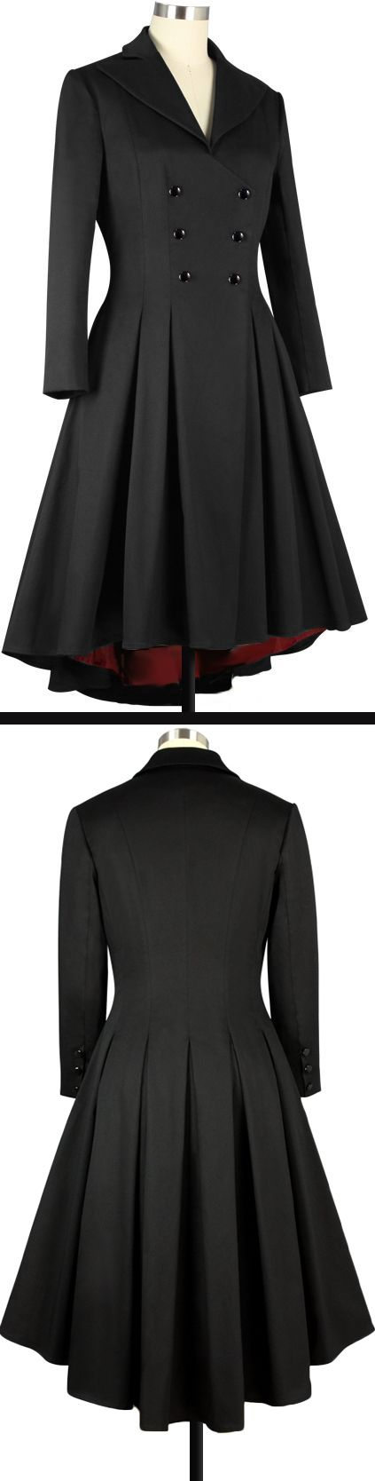Black and Red  Pleated Swing Coat Chic Star Design by Amber Middaugh  and Yuliana Arbona  $79.95 Plus Size 89.95