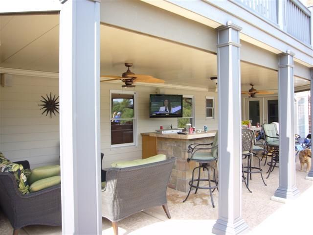 Under Deck Patio Ideas | Under Deck Ceilings, Retractable Awnings, Opening Roof Designs, Solar ...