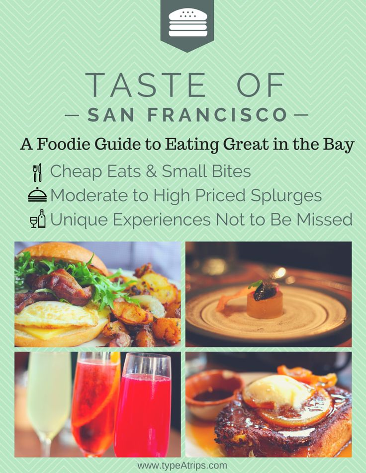 Taste of San Francisco | A Foodie Guide to Eating Great in the Bay. Whether you're a San Francisco native or are visiting for the first time, this guide has all the info you need to find some of the best food in the city.