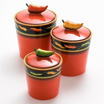 As I Said You Can Never Have Too Many Cannisters Find This Pin And More On Red Chili Pepper Decorations For The Kitchen
