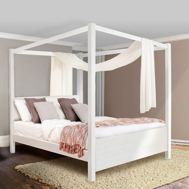 35 best four poster beds images on pinterest wood beds for Four poster wooden beds