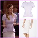 General Hospital Fashion: Get Nina Clay's BCBG Pencil Skirt and Peplum Top For Less – Michelle Stafford's Style!
