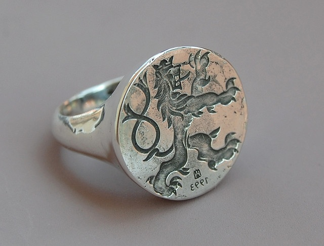 Czech Lion Seal ring (2009, IT) Ring 157. by Blind Spot Jewellery, via Flickr