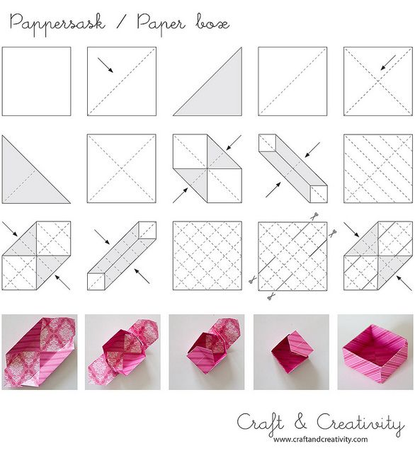 How to fold a paper box gift bags boxes pinterest for How to make a letterbox out of cardboard