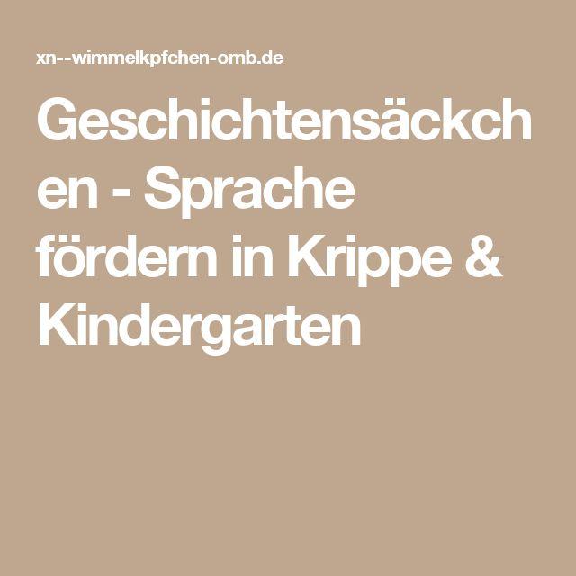 Geschichtensäckchen – Sprache fördern in Krippe & Kindergarten – Kathrin Kasinger