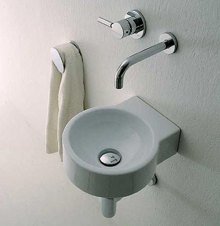 Twin Baby Wall Mounted Porcelain Sink