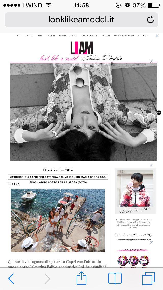 Matrimonio a Capri per Caterina Balivo e Guido Maria Brera : abito da sposa corto per lei e camicia bianca e cravatta nera per lui.   Guarda le foto del matrimonio. Scopri una vasta gamma di abiti corti da sposa.   #followme  http://www.looklikeamodel.it/2014/09/matrimonio-capri-per-caterina-balivo-e.html   #llam #looklikeamodel #wedding #fashionblogger #fashionstyle #fashion #nologo #vintage #abitodasposacorto #caterinabalivo #matrimonio #capri #love #instagood #instamood #instablogger