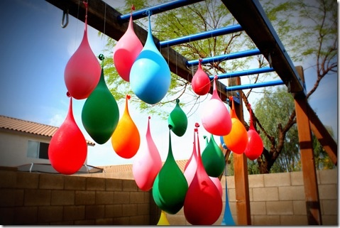 Water balloon 'pinata'