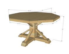 Ana White   Build a Benchmark Octagon Table   Free and Easy DIY Project and Furniture Plans Jared build me this with a concrete top:)