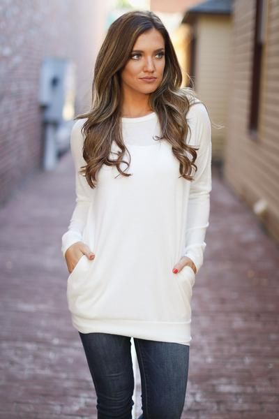 Trip For Two Fleece Sweater - Ivory