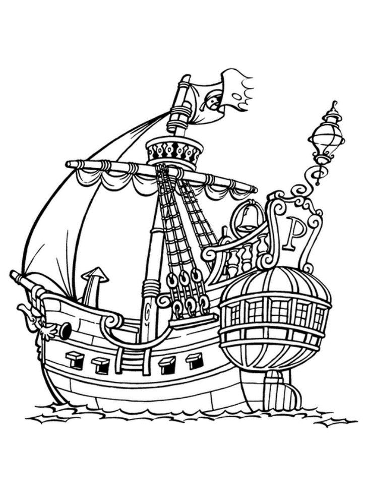 Днем рождения, картинки с пиратскими кораблями черно белые
