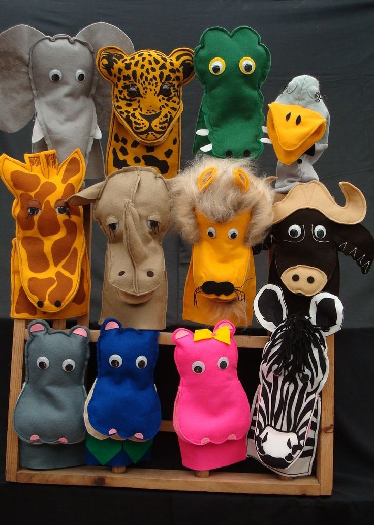African Creative handmade hand puppets - great for kids and adults alike. #hand-puppets #toys #animals