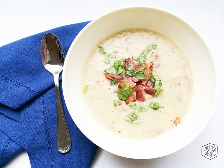 Creamy Potato [&] Bacon Soup…You would never know it's Whole 30 Approved! via momsbestnetwork.com