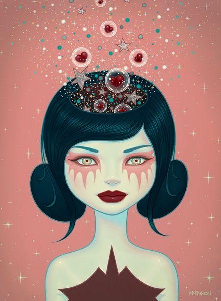 Tara McPherson | ART Paintings Supernova Supernova II