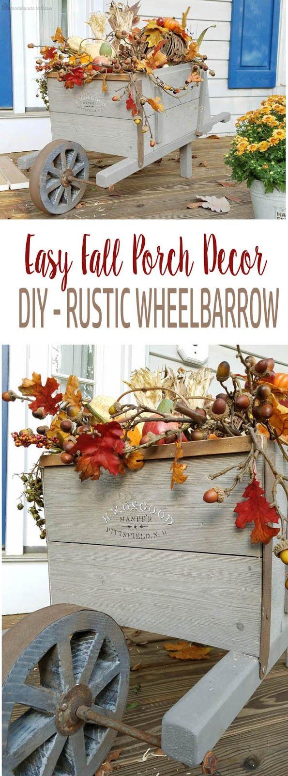 DIY - Rustic Wheelbarrow - #DIHWorkshop  #wheelbarrow #diy