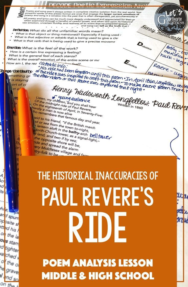 Explore Henry Wadsworth Longfellow S Famous Poem Paul Revere S Ride By Not Just Analyzing His Words And Emo Paul Revere S Ride Poetry Analysis Poetry Lessons